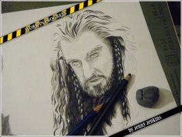 Thorin Oakenshield - WIP 2 by thewholehorizon