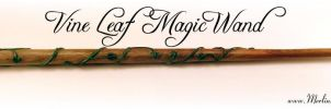 Vine Leaf Magic Wand by MerlinOfManitou