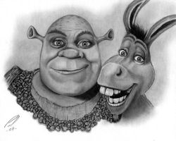 Shrek and JackAss by LumpyGravy