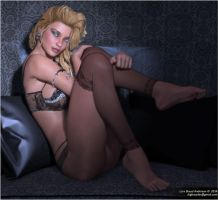 Sandra On The Black Couch #2 by neanderdigital