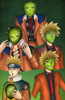 Naruto Becomes The Mask Coloured By Maskedwander by OnyxSteelGray1213