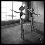 Ballerinas (Lunchtime break drawing) by Katikut