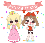 Happy Birthday with Peach and May by TheMeggers