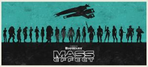 Mass Effect series poster by billpyle