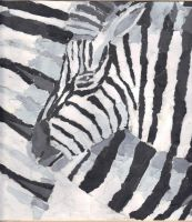 Torn Paper Zebra by Dawning-Rose