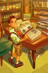Young Apollo in the Library by axl99