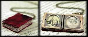 Beloved Book Locket Necklace by NeverlandJewelry
