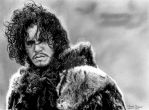 Jon Snow - Game Of Thrones by Chrisbakerart