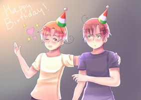 Birthday bros by PolishCrossoverFan