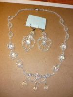 Snow queen jewelry set by Starleaf-Creations