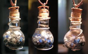 Magic Vial - Midnight Sky Pendant by Izile