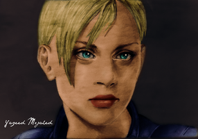 Jill Valentine Art-Yazeed by Captain1Yazeed
