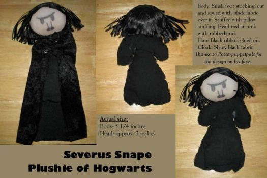 Severus Snape Plushie by rickmanlover24601