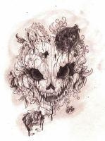 .: -Skull with roses and thorns- :. by PrideAlchemist7