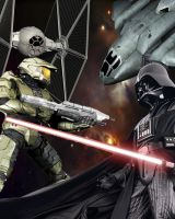 darth vader VS master cheif by rageinrebel01