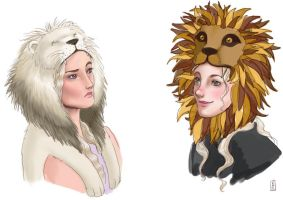Lion Hats by Reine-Haru