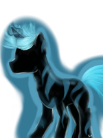 Random silhouetted Pony Glow in the dark thingy by PieceOfKawaiiPie