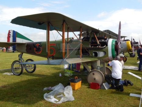Maintenance of a SPAD XIII by FAFLV-Yosuke
