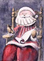 Santa's List - ACEO Size by spudsy2