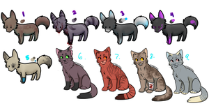 Animal Adoptables CLOSED by InfectedZombieX