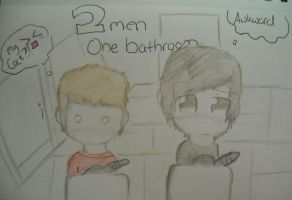 2 guys one bathroom :) by huey4ever