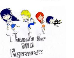 Thanks for 300 PageViews by sasumiofjapan