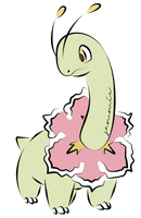 Meganium Coloured by ensnarings