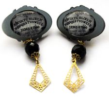 Ouija Board Post Earrings by asunder