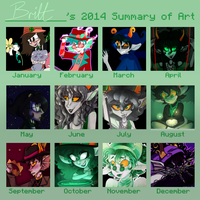 2014 art summary by omanomnom