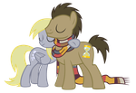 Doctor and Derpy hugs by sofunnyguy