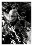 The Witcher - Geralt (pencil drawing) by WildGoska
