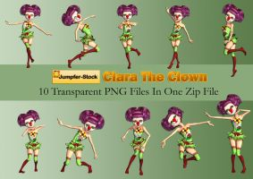 Clara The Clown PNG Stock Pack by Roys-Art