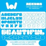 beautiful font by weknow