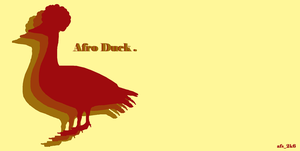 Afro Duck. by AFireSmothered