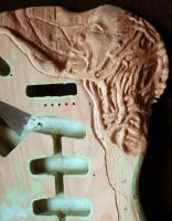 sculpted guitar prepa 8 by Mymakao