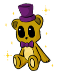 Psychic Friend Fredbear~ by LeslieElena19