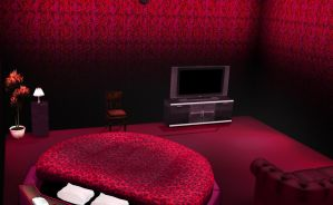 MMD Red velvet room stage by amiamy111