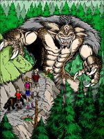 Wendigo hunting in the woods by kaijuverse