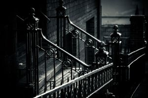 ironwork in morning by crag137