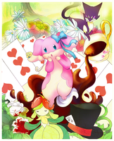 Audino in Wonderland by BrainDeadMareep
