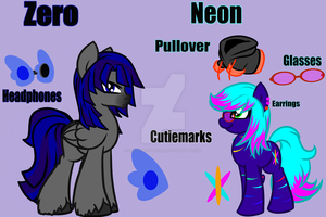 Zero and Neon Reference Sheet by ZerotheWanderer