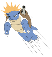 Blastoise used Skull Bash by Kainaa