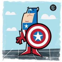 Captain America Vector by funky23