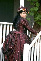 Victorian 1889 costume and hat by Saelok