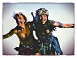 Xena and Gabrielle Flying by ARTbyKLIPP