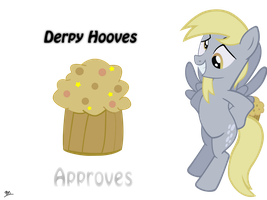 Derpy Hooves Approves - Wallpaper by jackofallnutz
