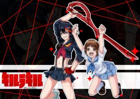 KLK: Ryuko and Mako by Torikii