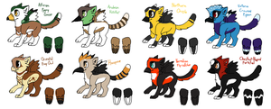 More Kitffin Adoptables by Kiwiis