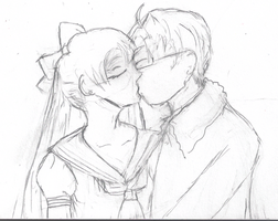 Alfred and Minako- Practice by SailorIronMare