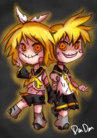 Creepy Twins by DenDenMichiMushi